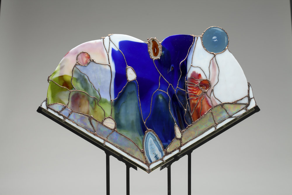 art glass stand, sculpture.jpg