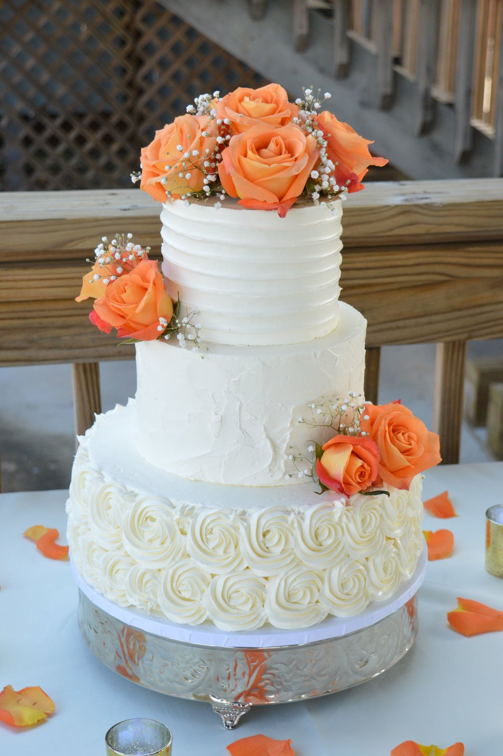 peach wedding cake gallery gallery fresh baked wedding cake roanoke va 18146