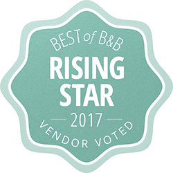 Roanoke Wedding Rising Star Award Fresh Baked Bakery