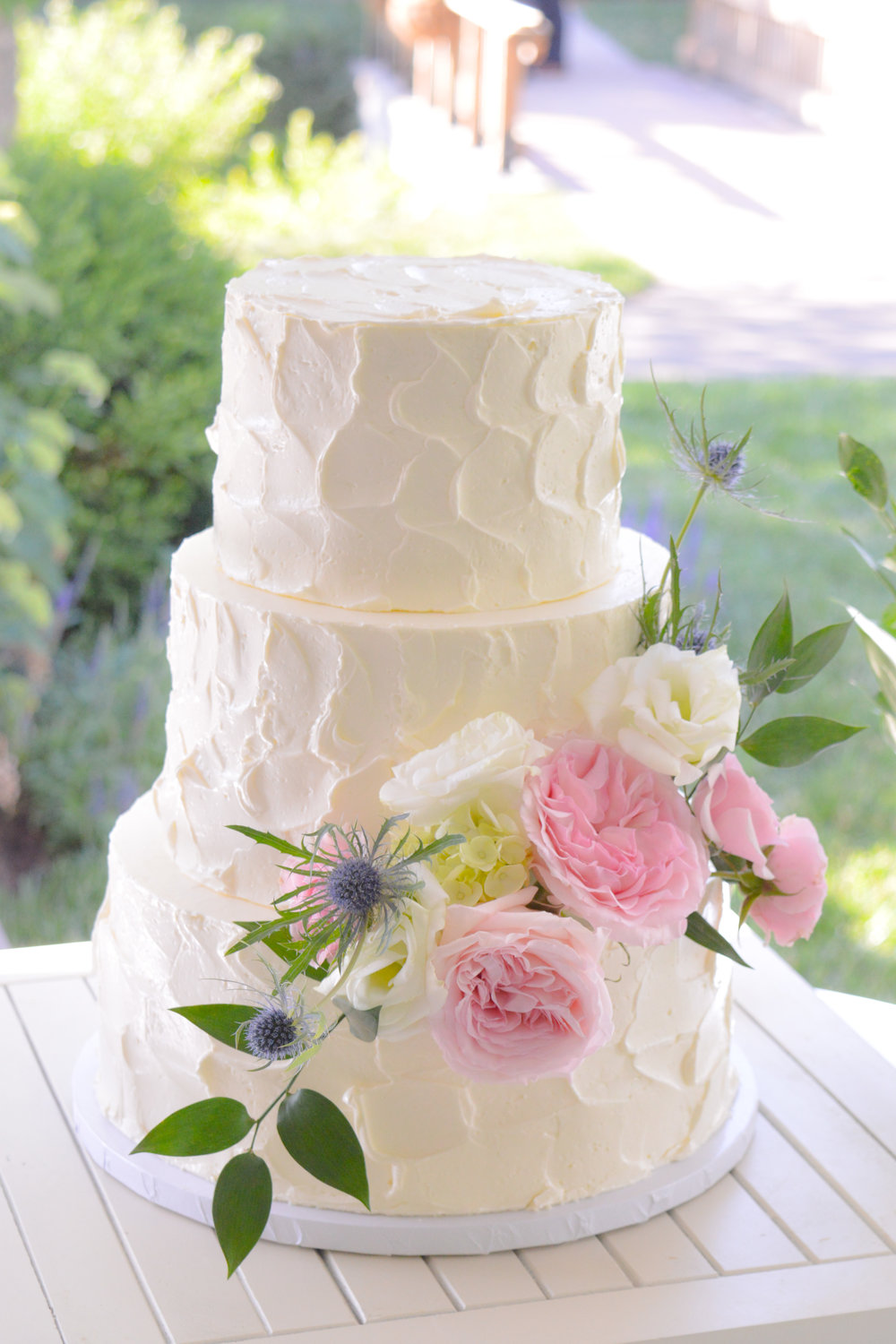Pink and White Flower Wedding Cake.jpg