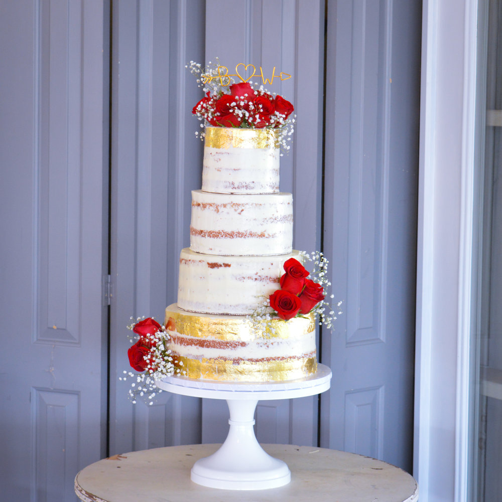 Semi Naked Cake w Gold Leaf IG.jpg