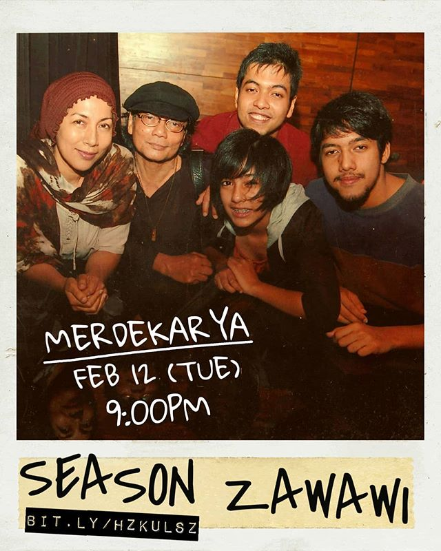 [RSVP: link in profile] Its season Zawawi! After 7 years the family is finally back together in #Malaysia and what better way to celebrate this rare occasion than to do a show. Happening this Tuesday FEB 12, 9:00PM @merdekarya (KUL) ft. @rendrazawawi, @kaikhan_, myself, the muso head of the family #DrWanZawawi himself, and a not-so-secret fifth member (Noorshah Khan) who will be joining us to complete the Zawawi fleet.  So prepare not for the season of rain, sun, haze or drought cause season Zawawi is here, ready or not!? 🎉🎉🎉