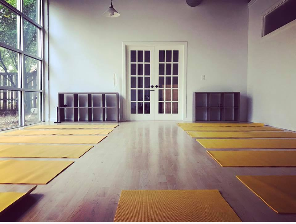Main Studio Space - Holds 18 Yoga Mats, 30 Meditation Cushions, or 60 chairs