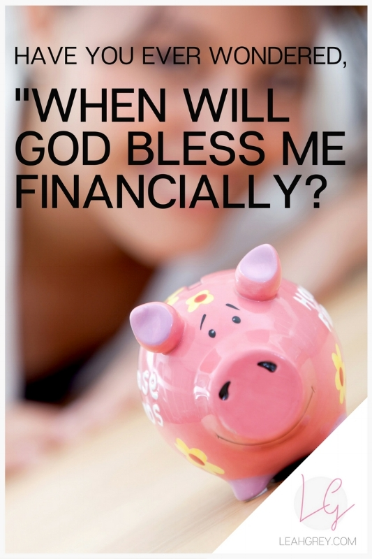 Have you ever wondered where your financial blessings are from God? You keep tithing and there doesn't seem to be a return on what you give at church? Are you in a hard season and can't give? Answers to all this and more on LeahGrey.com! Expert on faith under fire.