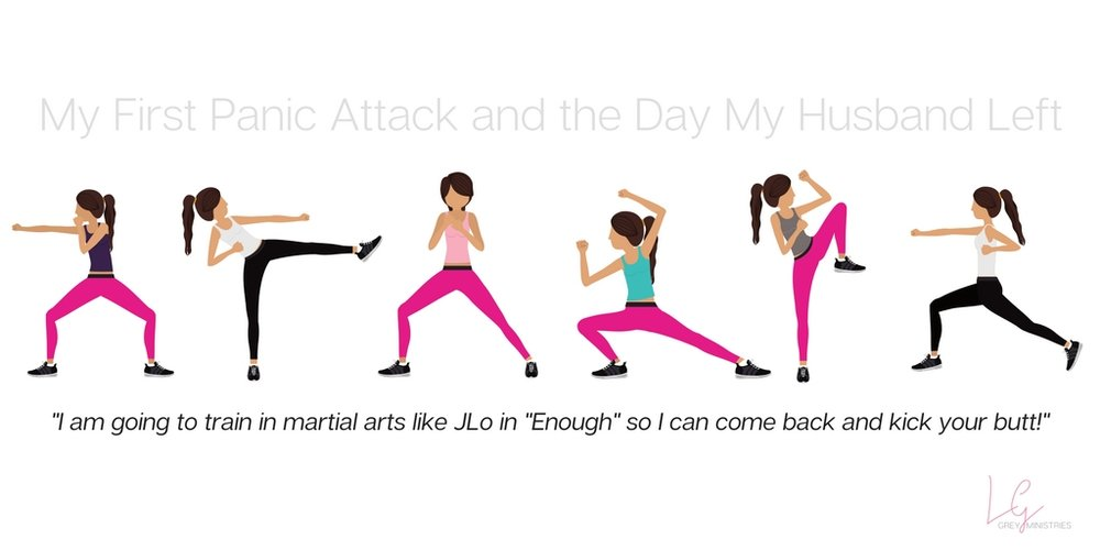 "I am going to train in martial arts like JLo in the movie, ""Enough"" so I can come back and kick your butt!"