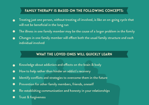 Family therapy infographic