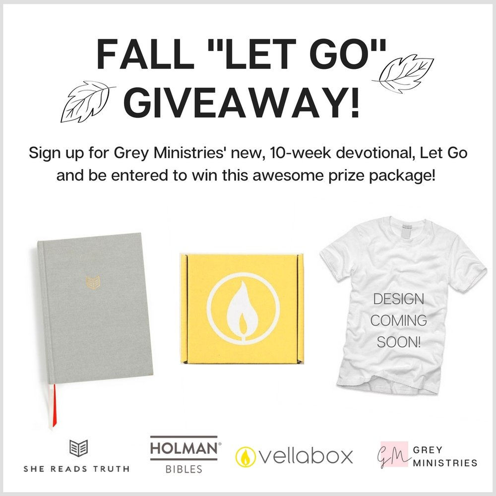 devotional on letting go, Christian women's giveaway