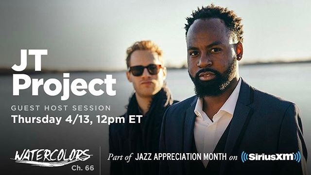 INCREDIBLE NEWS!  The JT PROJECT will be hosting there very own show tomorrow on @watercolorsjazz at 12pm noon EST! We will play cuts from our new album Moments of Change as well as incredible music that has influenced us as artists including Vincent Herring, Jerry Hahn, and Kenny Garrett!  It is going to be an incredible show, and sure to make you smile!  Please tune in and let us know how you liked it!  Thank you @watercolorsjazz and @siriusxm for all the love and support!! #music #radio #jtproject #thejtproject #instagood #instamusic #goodmusic #art #life #jazz #saxophone #piano