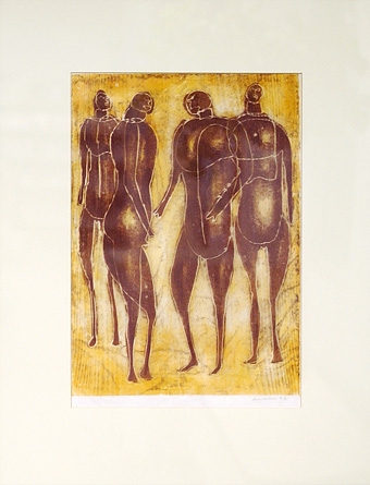 Untitled (Four Abstract Figures)