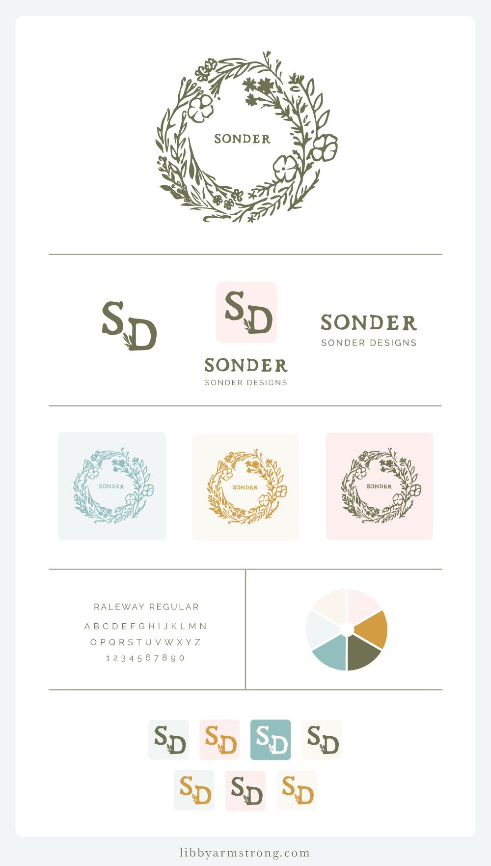 Sonder Logo Variations - Libby Armstrong Creative Design