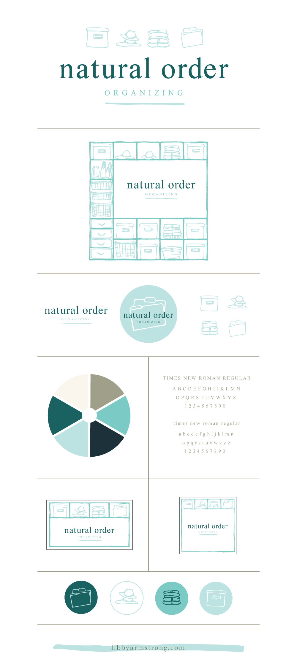 Natural Order Organizing Brand Board - Libby Armstrong Creative Design