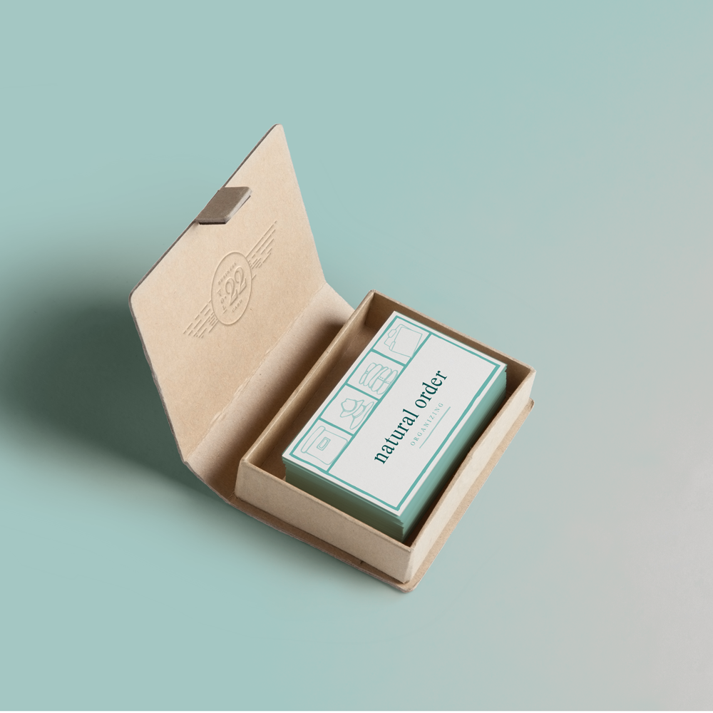 Natural Order Organizing Business Card - Libby Armstrong Creative Design