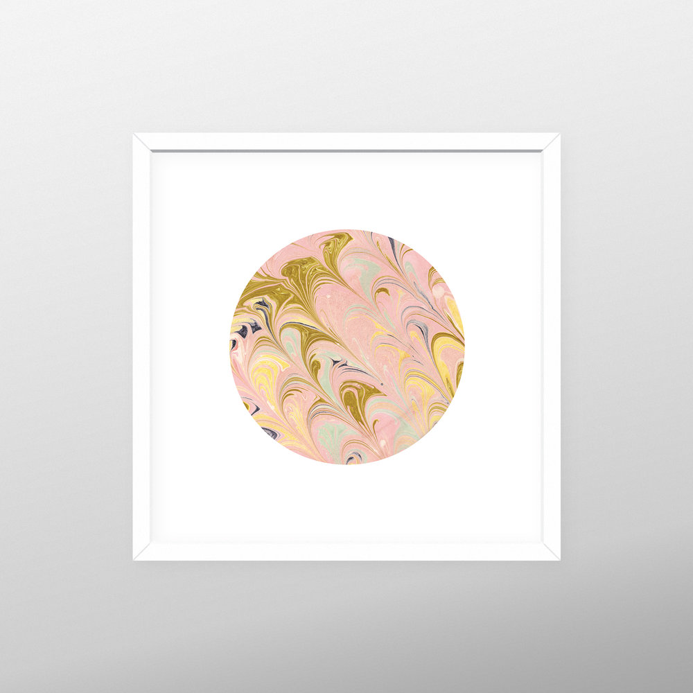 framed pink marble circle.jpg