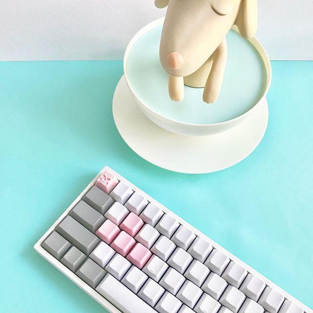 Octopink Clack with matching blanks. #mechanicalkeyboard #artisankeycaps #geekhack