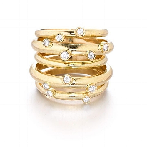 Stackable Rings by Sophia Khan Inara Jewelry