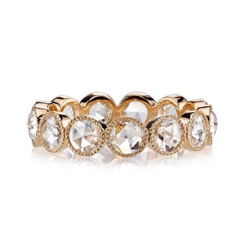 Gabby Large Rose Cut Diamond Eternity Band by Greenwich Jewelers