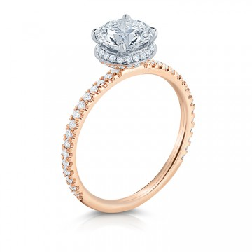 Lepozzi Radiant Cut Two Tone Engagement Ring by Lauren B.