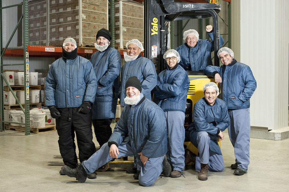 Team of heavy lifters at Jacqueline's Wholesale Bakery