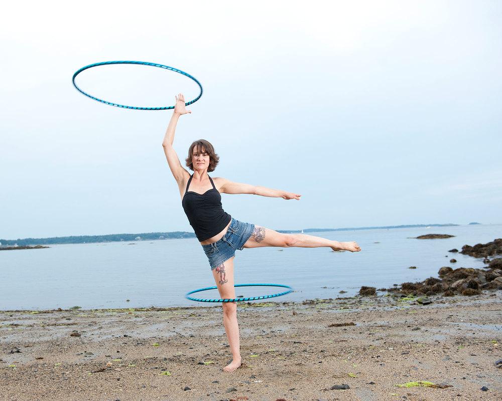 Lindsey Cline, hoop dance performer + burlesque artist