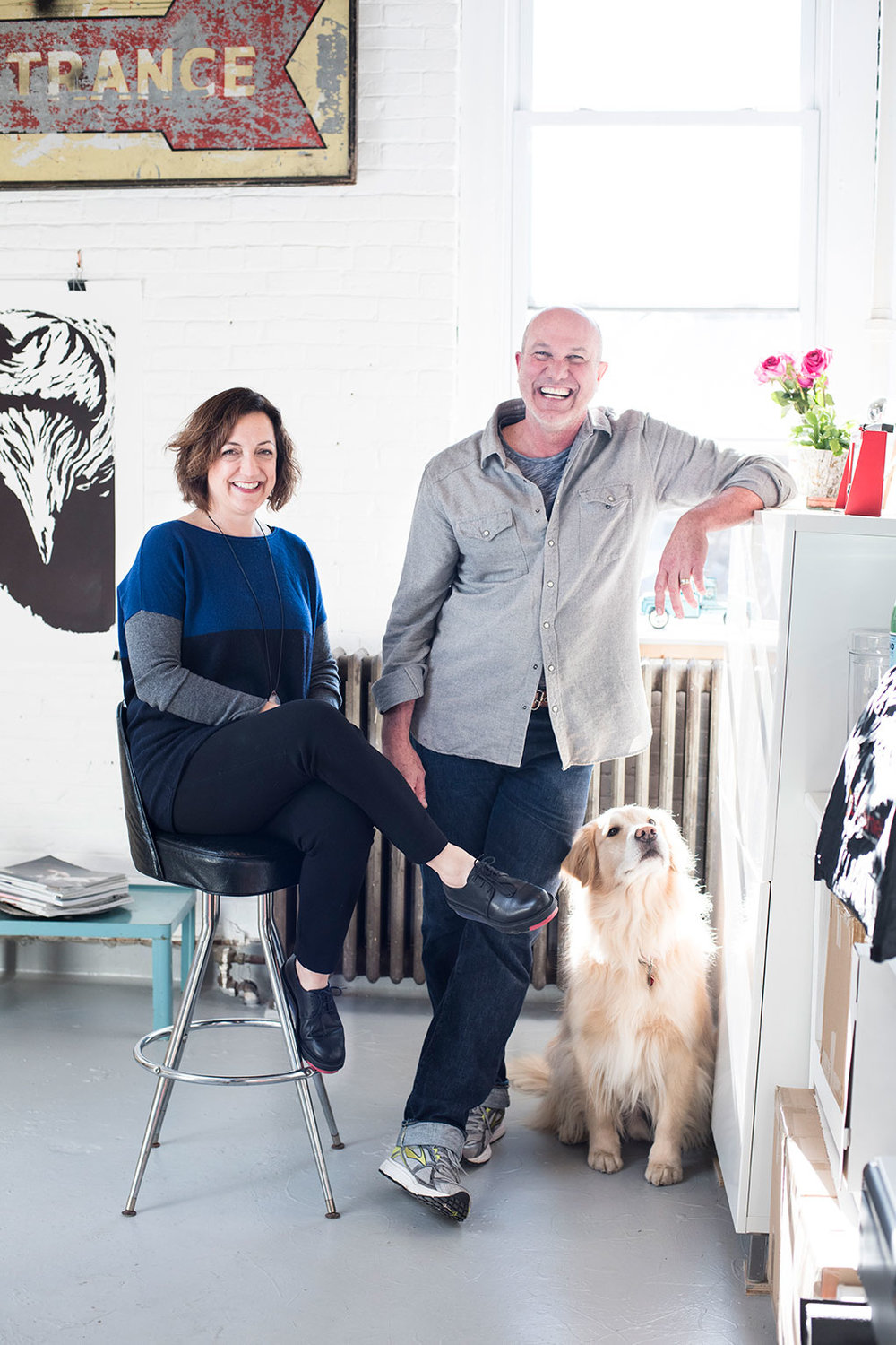 Kate Luchini & Tim Hansen (and Duke) of KT Digs Studio