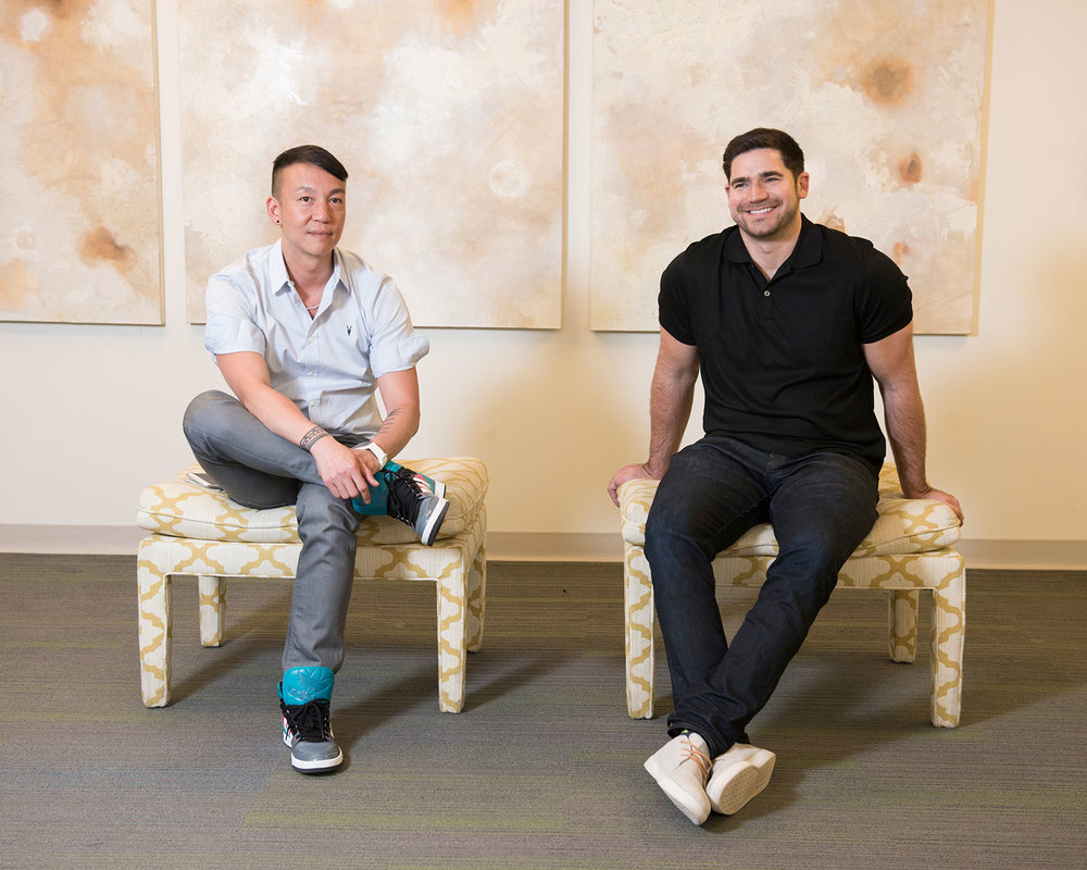 Ch'ien Chan and Justin Henry, designers at Wayfair