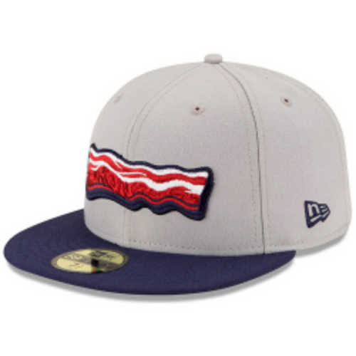 The Lehigh Valley IronPigs' very popular bacon hat. Yep, their players actually where these in games, too.