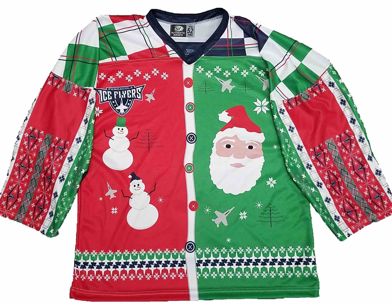 Pensacola Ice Flyers  Ugly Christmas Sweater Night — OT Sports 045b9651d