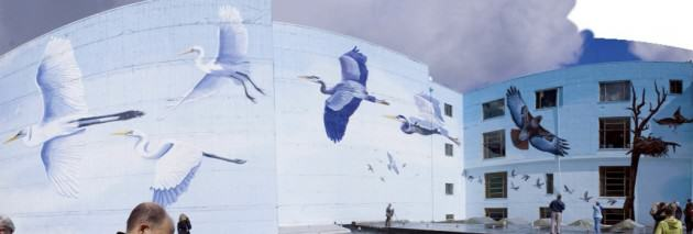Oaks Bottom Mural, Portland, Oregon, commissioned by Mike Houck. Photo by Nelson Photography.