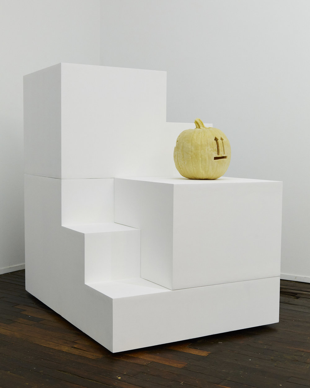Jonathan Santoro,  Box , Cast urethane foam, MDF, Latex Paint, 2017