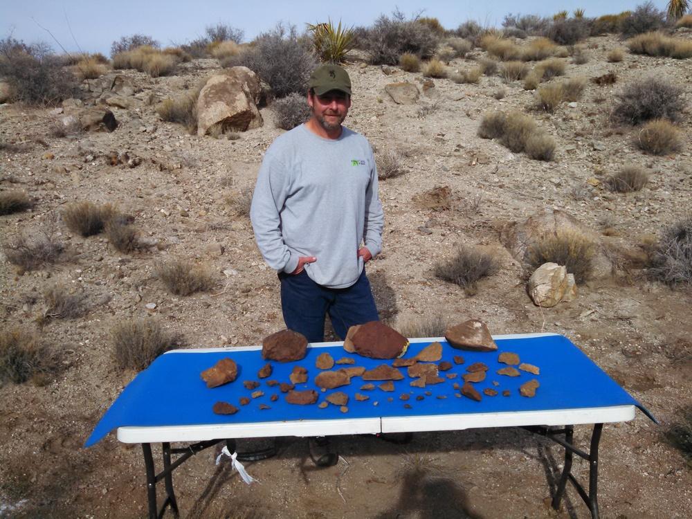 A Few Days in the Field. Nevada Side Gold Basin. Feb 2015. Photo Joe Franske