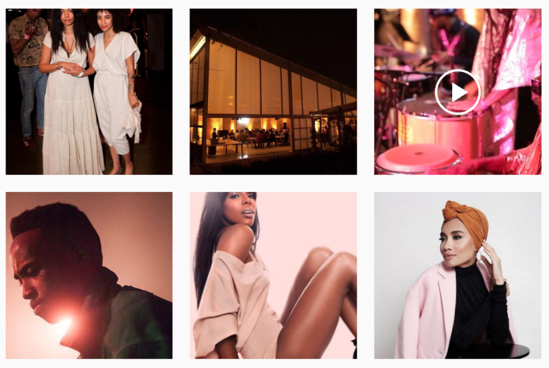 Saint Heron's Instagram feed keeps to a centralized color palette of matte earth tones and fragmented brights to produce a beautifully consistent mood.