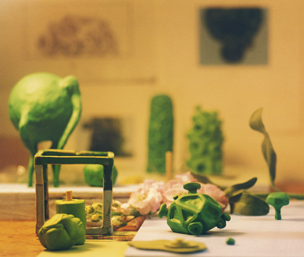Various clay models, 2003