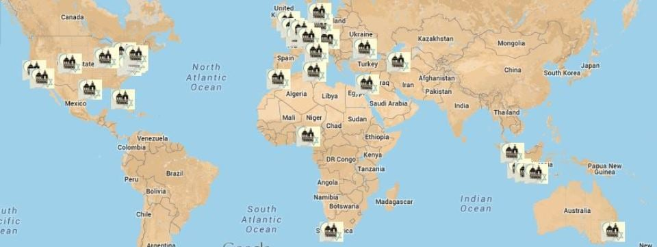 7th Annual Weekend of Twinning Map