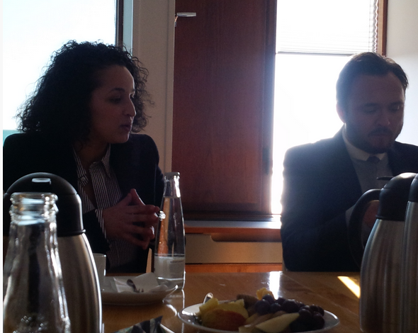 FFEU European Director, Samia Hathroubi, and Denmark's Minister of Food and Agriculture, Dan Jorgensen