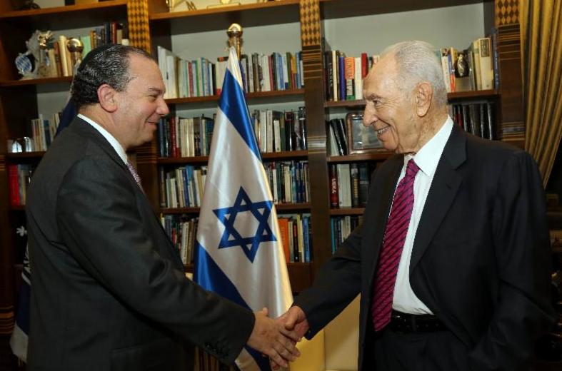 Rabbi Marc Schneier with Israeli President Shimon Peres