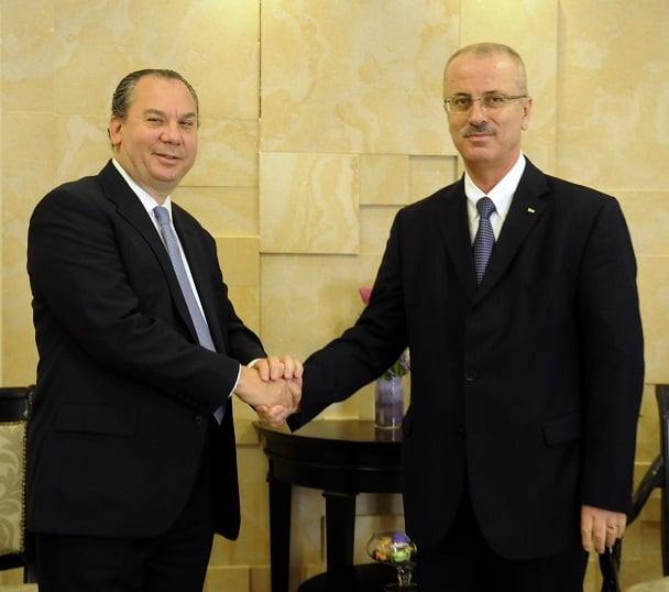 Rabbi Marc Schneier and Palestinian Authority Prime Minister Rami Hamdallah