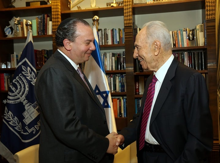 Rabbi Marc Schneier and Israeli President Shimon Peres
