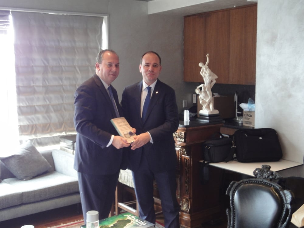 Rabbi Marc Schneier and Albanian President Bujar Nishani