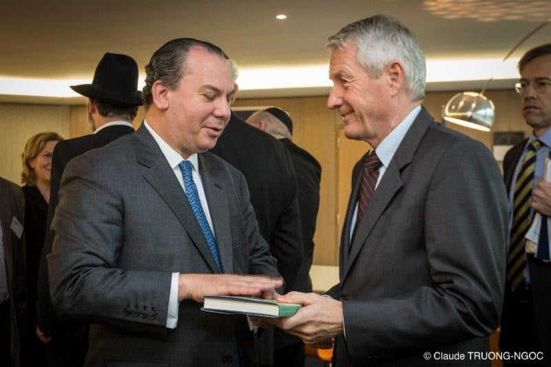 Rabbi Marc Schneier and Secretary General of Council of Europe Thorbjorn Jagland