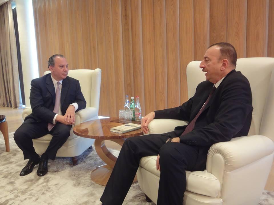 Rabbi Marc Schneier meets Azerbaijan President Ilham Aliyev in Baku