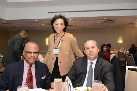 Rev. Dr. Calvin Butts, III (Senior Pastor, Abyssinian Baptist Church, Harlem, NY), Rabbi Marc Schneier and Jennifer Jones Austin (CEO and Executive Director of Federation of Protestant Welfare Agencies, NY).