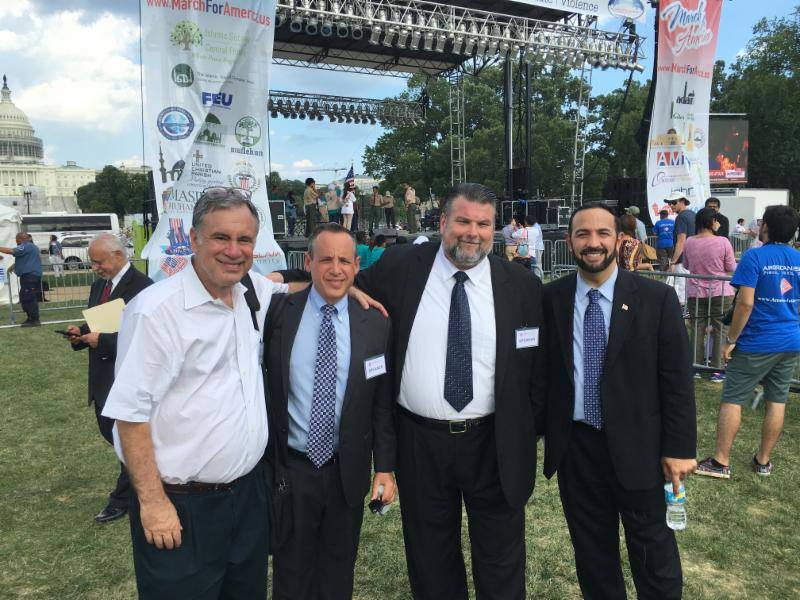 (L-R): Walter Ruby, Rabbi Steven Engel, Rev. Bryan Fulwider and Imam Muhammad Musri