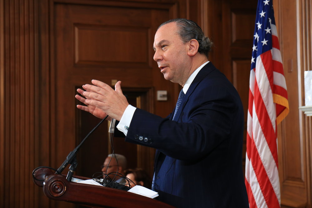 """""""25 of the 55 freshman members of Congress are of Latin, Jewish, Asian, Black, and Indian descent. This is a portrait of what our country is today."""" Rabbi Marc Schneier, President of the FFEU"""