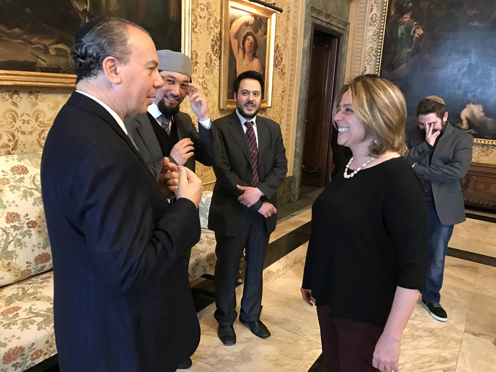 FFEU President Rabbi Marc Schneier and Deputy Mayor, Mrs. Anna Scavuzzo
