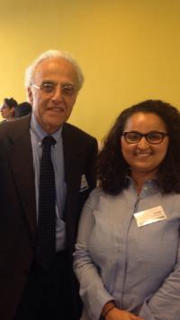 Professor John L. Esposito with FFEU European Director Samia Hathroubi.