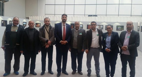 French imams with MEP Afzal Khan (center) and Samia Hathroubi.
