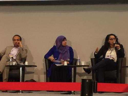 Professor Tariq Ramadan, intellectual and writer Ghaleb Bencheikh and Samia Hathroubi.