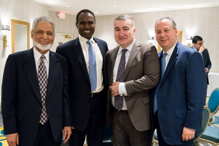 L-R: ISNA National Director Dr. Sayyid M. Syeed, Secretariat of the Network for Religious and Traditional Peacemakers Director Dr.Mohamed Elsanousi, the Ambassador of the Republic of Azerbaijan to the USA Elin Suleymanov and FFEU President Marc Schneier.