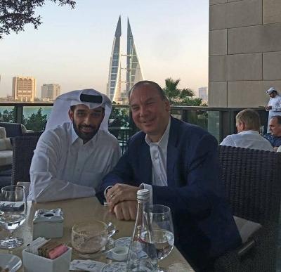 H.E. Hassan Al Thawadi (R) and Rabbi Marc Schneier (L).