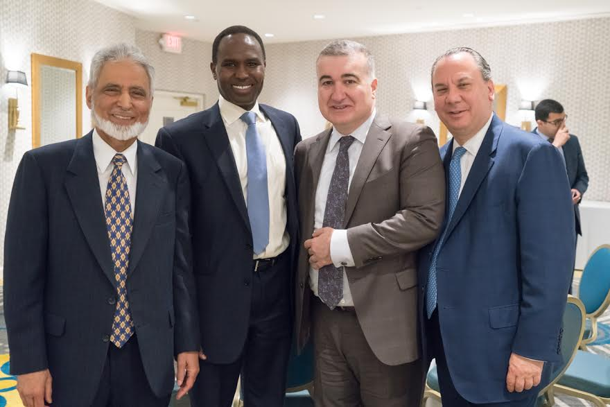 L-R: ISNA National Director Dr. Sayyid M. Syeed, Secretariat of the Network for Religious and Traditional Peacemakers Director Dr. Mohamed Elsanousi, the Ambassador of the Republic of Azerbaijan to the USA Elin Suleymanov and FFEU President Marc Schneier. 2016